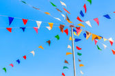 Color party flags — Stok fotoğraf