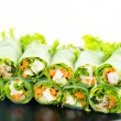 Fresh vegetable spring rolls — Stock Photo #39600675