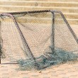 Gold soccer net — Stock Photo #39607745