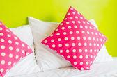Colorful polka pillow — ストック写真