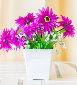 Fake flower in vase — Stock Photo