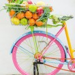 Bicycle with basket — Stock Photo