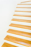 Wood staircase interior — Foto Stock