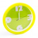 Green clock alarm — Stock Photo