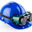 Safety helmet and goggles — Stock Photo #39917777