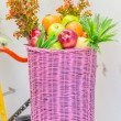 Bicycle with basket — Stock Photo #39942469