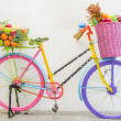 Bicycle with basket — Stock Photo #39964235