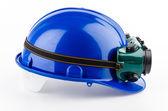 защитный шлем и очки — Стоковое фото