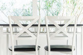 Table chair dining — Foto Stock