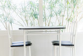 Table chair dining — 图库照片