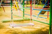 Playground swing — Stock Photo