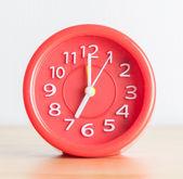červený hodiny — Stock fotografie