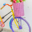 Bicycle with basket — Stock Photo #40332519