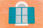 Vintage tuscany italian window — 图库照片