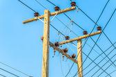 Post elettrico — Foto Stock