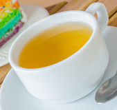 White cup tea — Stock Photo