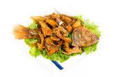 Comida tailandesa pescado frito — Foto de Stock