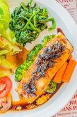 Steak salmon — Stock Photo