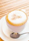 Hete cappuccino — Stockfoto