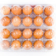 Stock Photo: Packed eggs