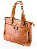 Leather bag — 图库照片