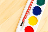 Color brush palette — Stock Photo