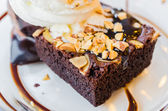 Chocolate brownie — Stock Photo