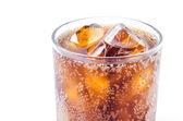 Cola w szkle — Zdjęcie stockowe