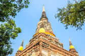 Wat Yai Chaimongkol temple — Stock Photo