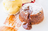 Chocolate lava — Stock Photo
