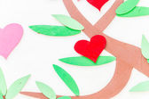 Heart abstract tree background — Stock Photo