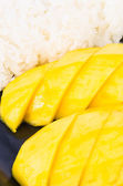Mango and sticky rice — Stock Photo