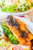 Lachs Steak — Stockfoto