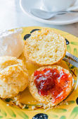 Scone with wip cream — Stock Photo
