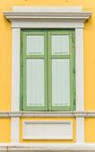 Dřevěné okno — Stock fotografie