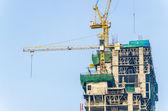 Crane building construction site — Stock Photo