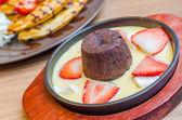Chocolate lava — Stock Photo
