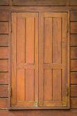Wood window — Stock Photo
