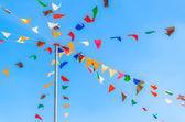 Bandeiras de festa de cor — Fotografia Stock