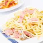 Spagetti carbonara — Stock Photo