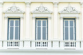 Dřevěná okna — Stock fotografie