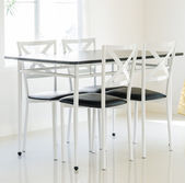 Mesa y sillas — Foto de Stock