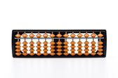 Abacus on white — Stock Photo