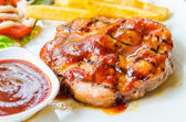 Grilled pork steak — Stock Photo