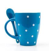 Полька кружки чашки — Стоковое фото