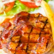 Stock Photo: Barbecue grilled pork steak