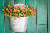 Plastic flowers — Stock Photo