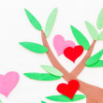Heart abstract tree background — Stock Photo