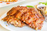 Bbq žebra steaky — Stock fotografie