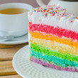 Rainbow cake — Stock Photo